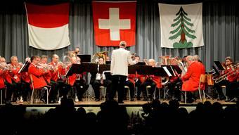 Der Musikverein Gretzenbach trat am Jahreskonzert unter der Leitung von Ehrendirigent Konrad Wüthrich auf.