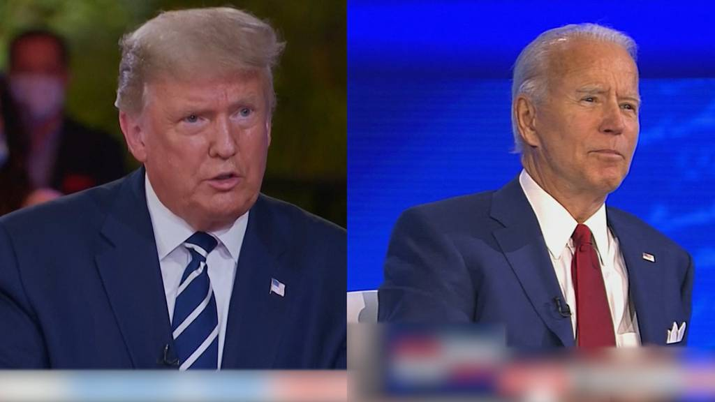 Meilenweit voneinander entfernt - Trumps und Bidens Konkurrenzkampf