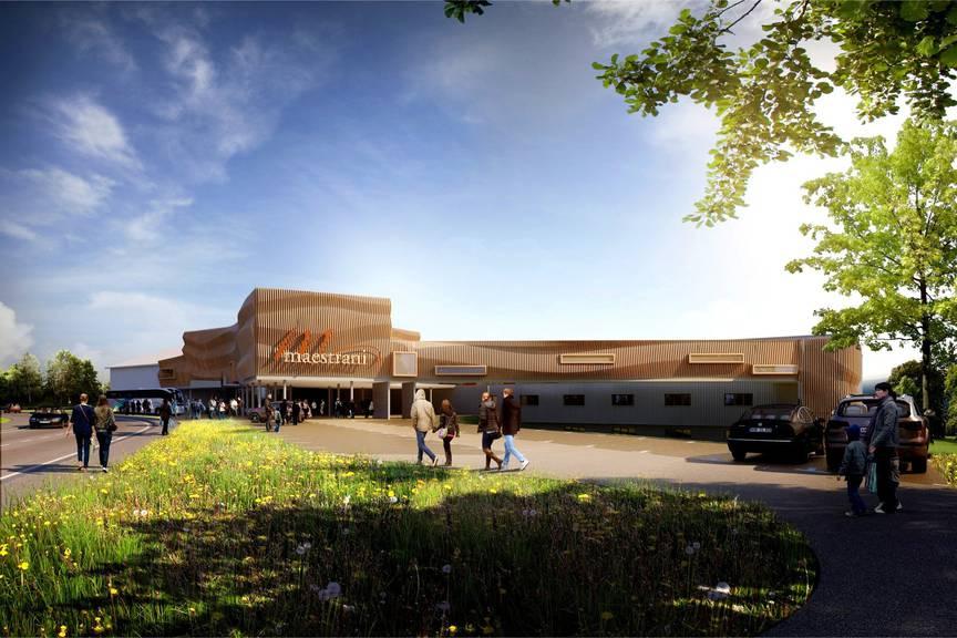 Das neue Besucherzentrum der Maestrani Flawil.