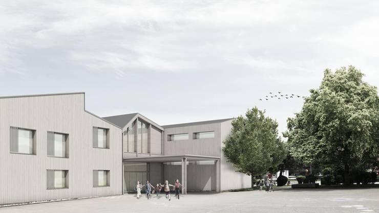 Der Bau will sich in die Dorflandschaft eingliedern.