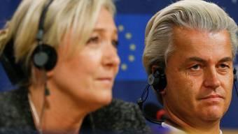 Rechtspopulisten unter sich: Marine Le Pen und Geert Wilders