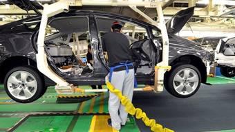Den Toyota-Fabriken in den USA fehlen wichtige Komponenten (Archiv)