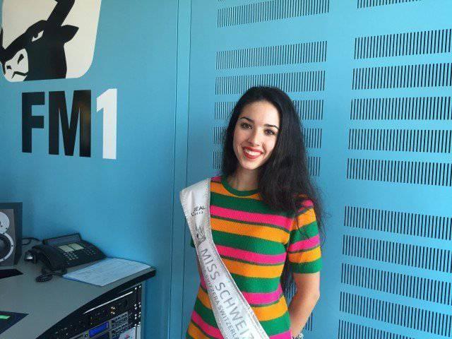 Die Miss Schweiz bei uns in der Redaktion (FM1Today)