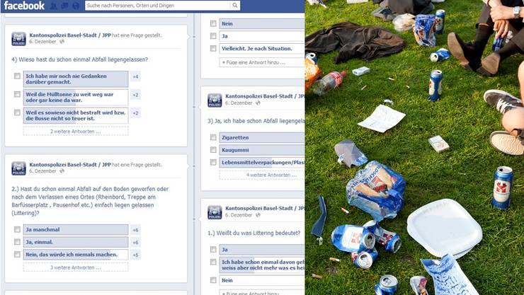 Die Basler Präventionspolizei outet junge Litterer auf Facebook