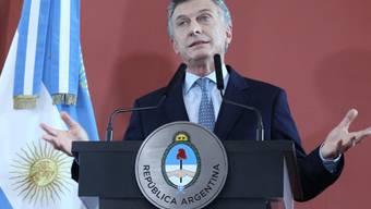 Parlamentszustimmung: Der argentinische Präsident Mauricio Macri kommt bei den Beschlüssen über radikale Sparmassnahmen in seinem Land voran. (Archivbild)
