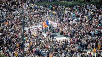 Demonstrieren für ihre Unabhängigkeit: katalonische Seperatisten.