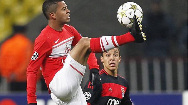 Carioca (links) traf für Spartak bereits nach drei Minuten zum 1:0