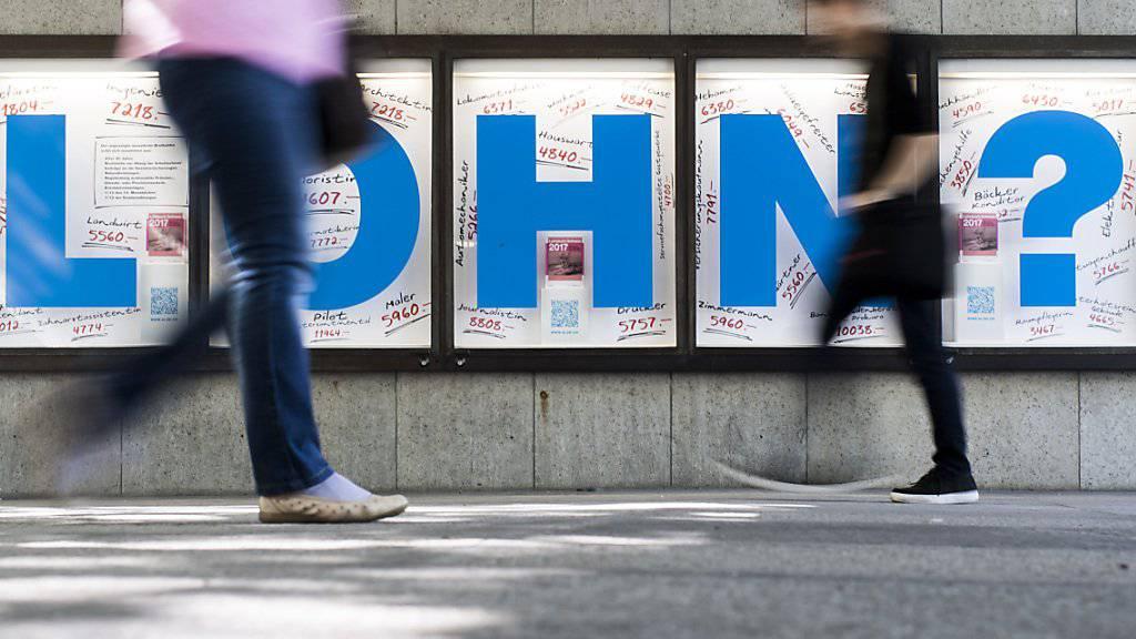 Der Gewerkschafts-Dachverband Travail.Suisse hat seine Forderungen für den Lohnherbst platziert: Im kommenden Jahr sollen die Saläre in der Schweiz um rund zwei Prozent steigen. (Themenbild)