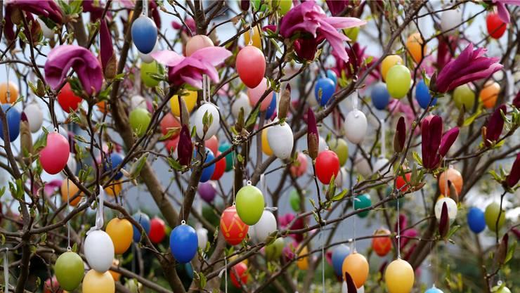 Die drei Tage vor Ostern, symbolisiert durch diesen Osterbaum in Biberist, waren und sind für Elisabeth Pfluger etwas «Besonderes».