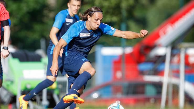 Dynamisch und neu in den Farben des FC Zürich: Michael Frey