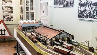 Diorama Bahnanlagen «Erstfeld» vom Modelleisenbahnclub Oberwynental.