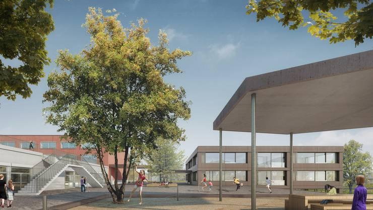 Das Anbauprokekt für die Schulanlage Oberdorf in Oensingen