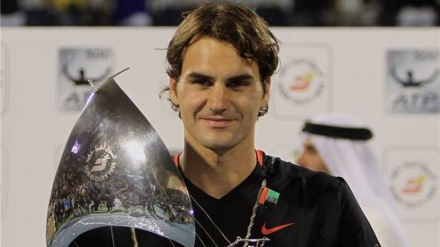 Roger Federer erwies sich als Meister der Beschleunigung. Foto: Ali Haider- Keystone
