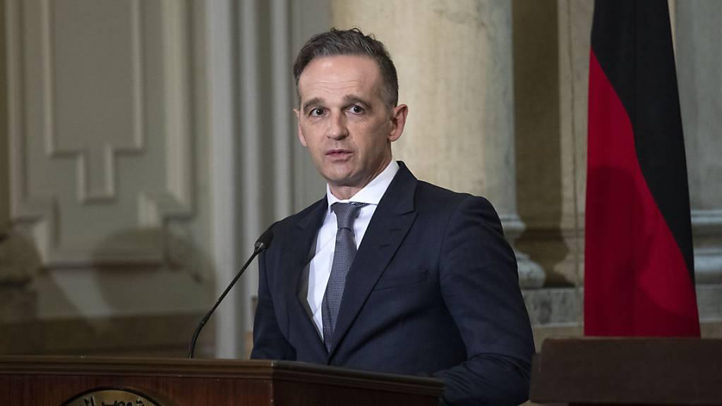 Heiko Maas, Bundesaußenminister, spricht auf einer Pressekonferenz. Foto: Nariman El-Mofty/AP/dpa