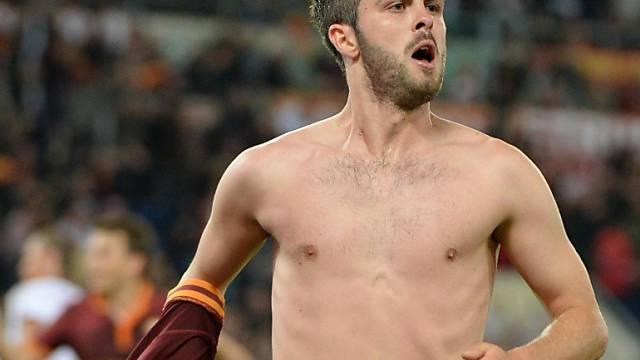 Miralem Pjanic nach seinem Tor zum 1:0 für die AS Roma