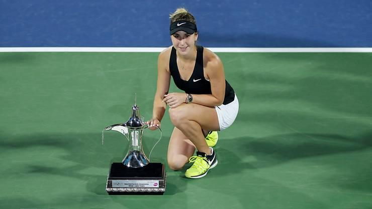 Belinda Bencic rückt dank ihrem Triumph am Turnier in Dubai im WTA-Ranking vor