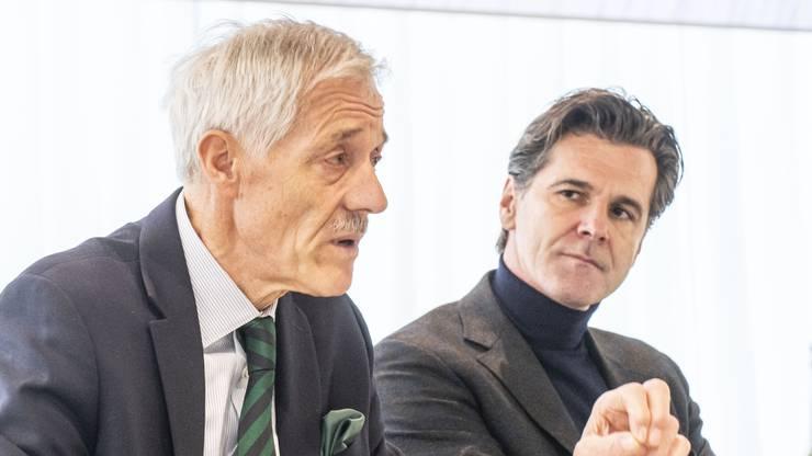 Vischer und Stadlwieser erläuterten die Antworten zu den 39 Fragen seitens AMG Investment Fonds vorgängig zur ausserordentlichen Generalversammlung.