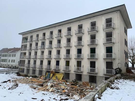 Für ein paar Tage herrschte freier Blick auf die Gebäude