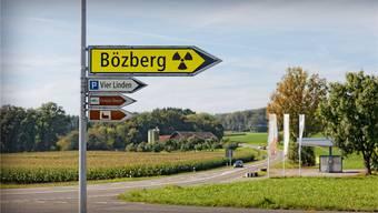 Das Gebiet Jura Ost rund um den Bözberg ist einer von zwei heissen Anwärtern für ein Atommüll-Tiefenlager. (Fotomontage KEY)