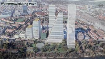 Die Visualisierung der Pläne für das Südareal.