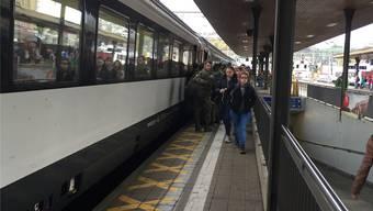 Zugausfälle beim Bahnhof Lenzburg.