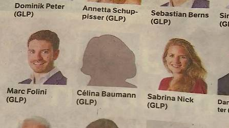 Für die Aargauer Grossratswahlen will Célina Baumann ihr Gesicht nicht zeigen. Bei Facebook hat die junge Frau damit weniger Probleme.