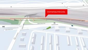 So sollte die neue Donnerbaumbrücke dann aussehen.