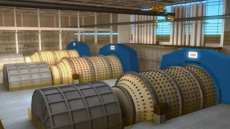 Solche getriebelose Mühlenantriebe produziert die ABB - das Geschäft stockt zurzeit allerdings.