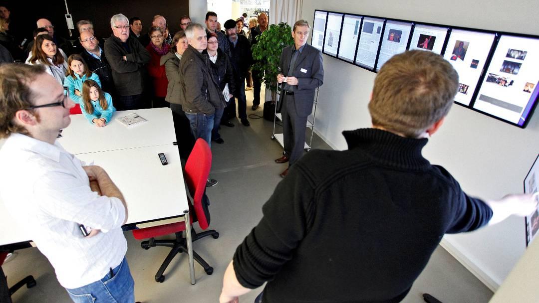 Rundgang an der Eröffnung des Medienhauses Solothurn