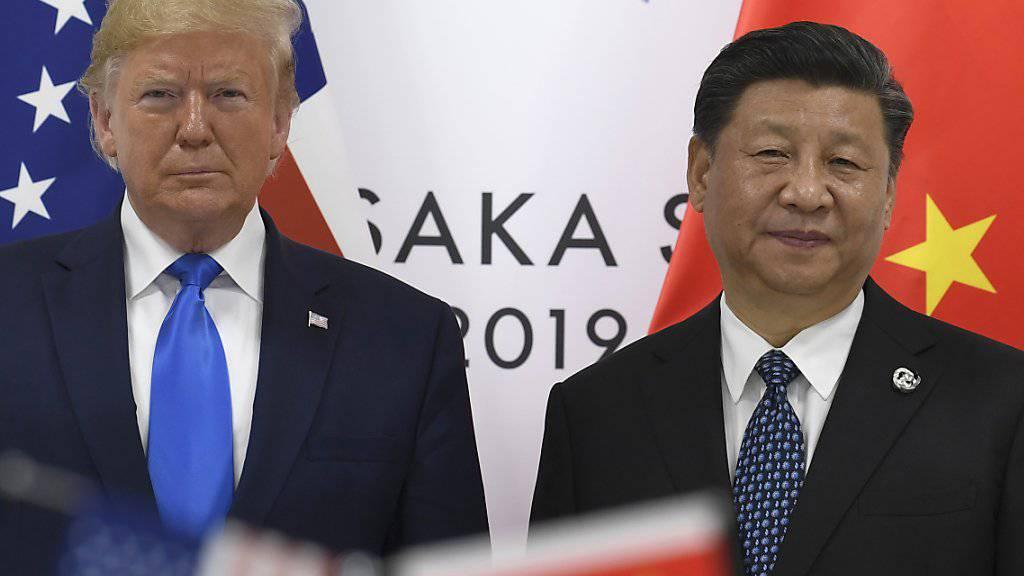Da herrschte noch so etwas wie Minne: US-Präsident Donald Trump und sein chinesischer Amtskollege Xi Jinping am G-20-Gipfel in Osaka. (Archivbild)