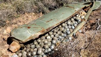 """Nicht-explodierte Streubomben sowie deren """"Mini-Bomben"""", die pro Bombe zu Hunderten über Fussballfeld-grosse Gebiete verteilt werden, forderten im 2016 doppelt so viele Opfer wie im Jahr zuvor. (Symbolbild)"""
