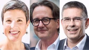 Noch nicht entschieden: Sandra Kohler (parteilos). Tritt im 2. Wahlgang an: Erich Obrist (parteilos). Markus Schneider (CVP) will Rang 1 verteidigen.