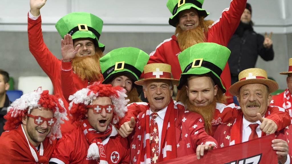 Schweizer Fans in Belfast