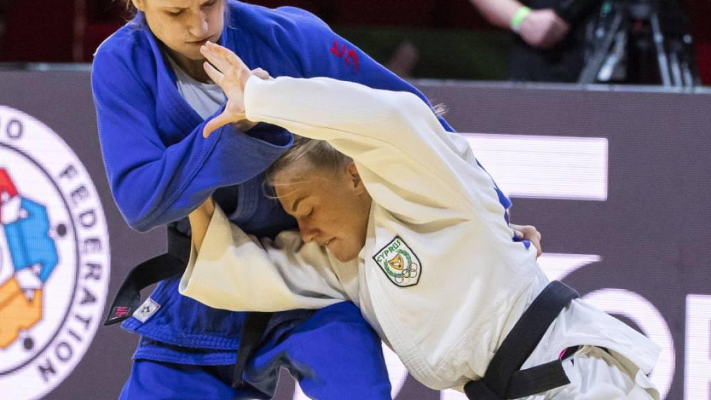 Fabienne Kocher (links) gewann in Budapest Bronze