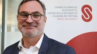 Glückskette-Direktor Roland Thommann lobt die Solidarität der Schweizer Bevölkerung.