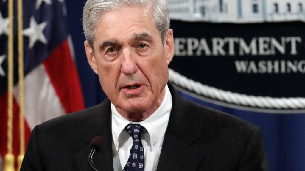 Will mehr Redezeit vor dem US-Parlament: Robert Mueller, der Sonderermittler in der Affäre um mögliche Kontakte zwischen Präsident Donald Trumps Wahlkampfteam und Russland. (Archivbild)