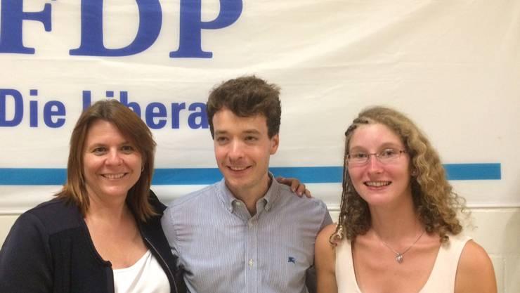 Die Podiumsteilnehmer Claudia Hauser, Adrian Schoop und Andrea Laube