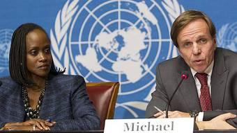 Esther Brimmer und Michael Posner von der US-Vertretung am UNO-Sitz in Genf