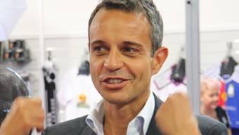 FCB-Präsident Bernhard Heusler am HESO-Stand
