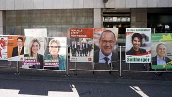 Wahlplakate – sie werden bis zu den Wahlen wieder überall zu sehen sein.
