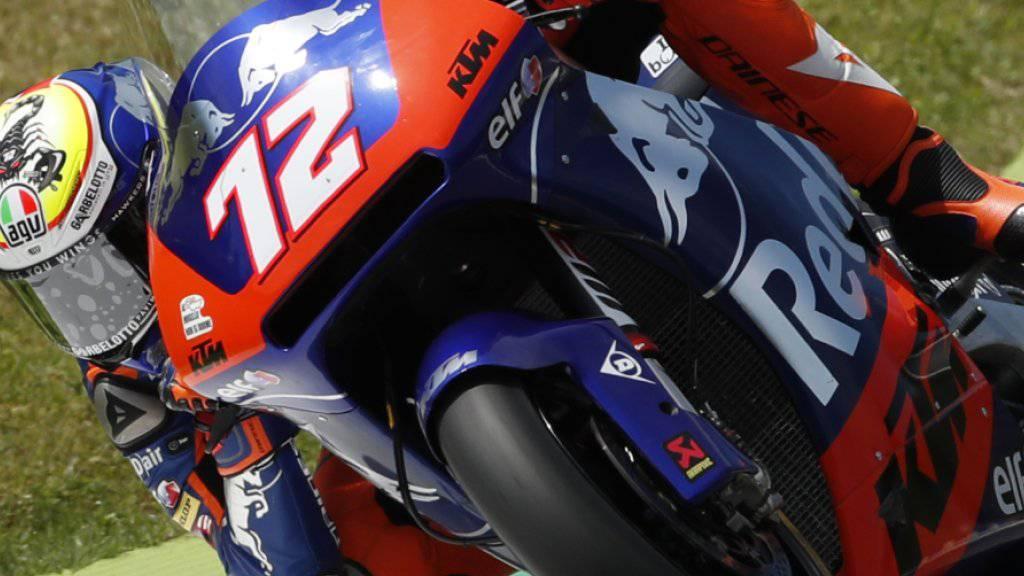 Startet am Sonntag von Platz 8 zum GP der Niederlande: Tom Lüthi auf seiner Kalex