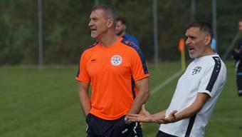Trainer Mauro Rossi und Assistent Carmine Ferorelli.
