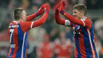Sowohl Ribery (links) als auch Schweinsteiger trafen gegen Köln