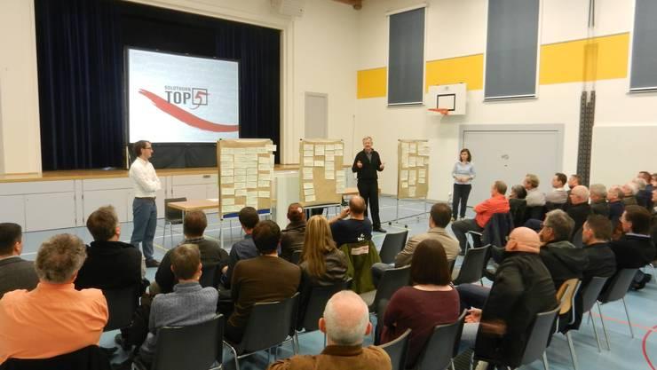 Der «Top5»-Workshop fand in der alten Turnhalle statt.