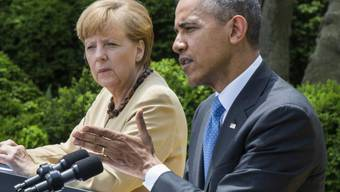 Obama und Merkel bei der Medienkonferenz nach den Gesprächen