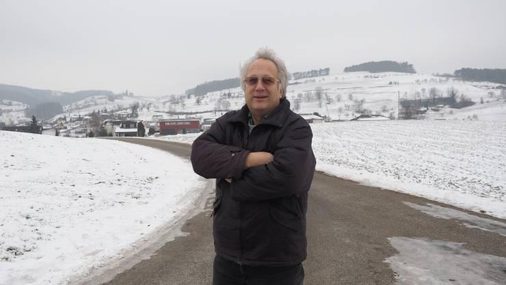 Max Sterchi kämpft gegen eine Deponie im Gebiet Buech.