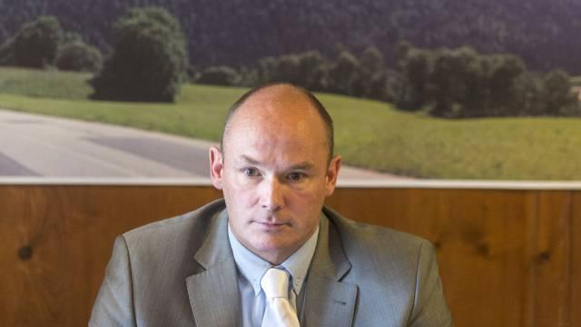 Yvan Perrin während einer Medienkonferenz im April (Archiv)