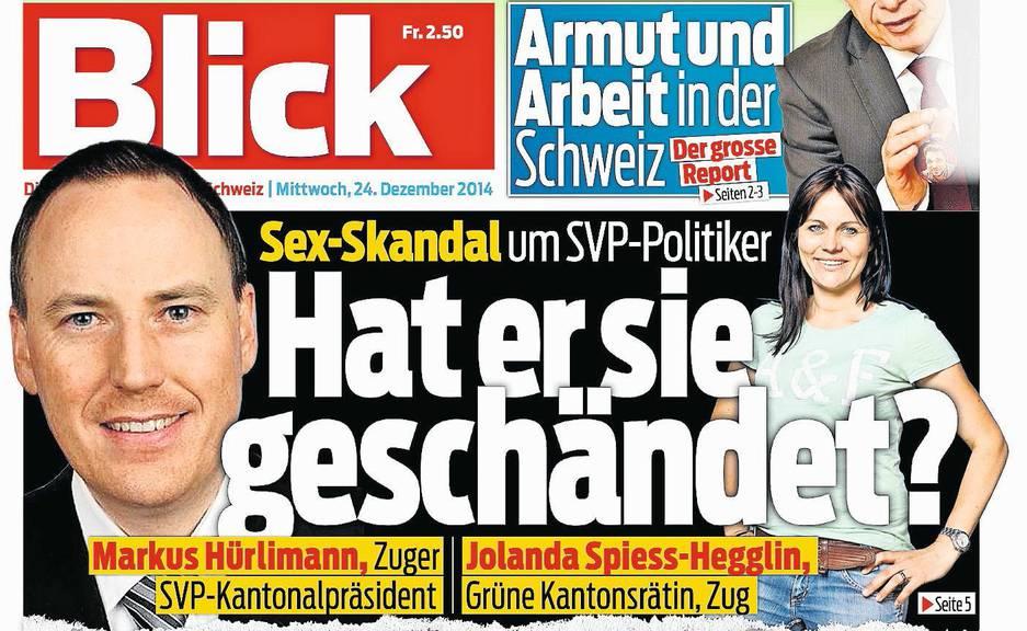 Stein des Anstosses: Frontseite des «Blick» vom 24. Dezember 2014.