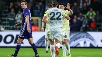 Nach seinem Treffer in der Europa League ist Michael Frey auch in der türkischen Meisterschaft erfolgreich (Archiv)