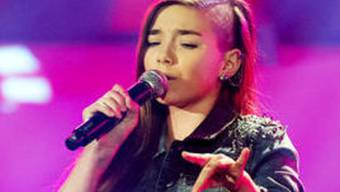 "Auch die St. Gallerin Michèle (13) hat die Blind Audition von ""The Voice Kids"" gemeistert (Bild Sat1)"